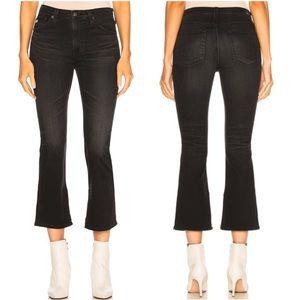 AG Jodi High Rise Crop Inside Slit Flare Jeans